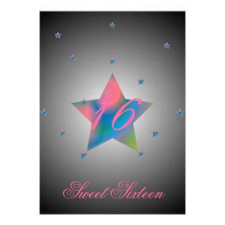 Heavenly Star Sweet Sixteen-Customize Custom Invitations