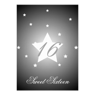 Heavenly Star Sweet Sixteen-Customize Personalized Invites