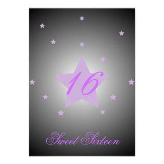 Heavenly Star Sweet Sixteen-Customize Custom Invite