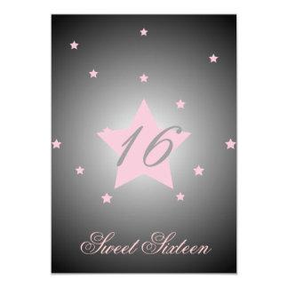 Heavenly Star Sweet Sixteen-Customize 13 Cm X 18 Cm Invitation Card