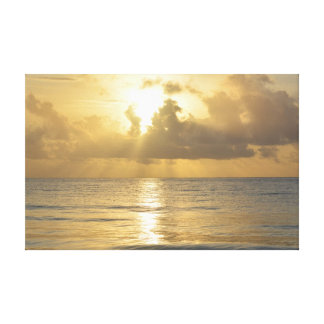 Heavenly sunrise over Zanzibar beach Canvas Print