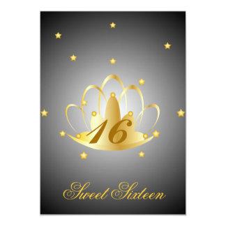 Heavenly Tiara Sweet Sixteen-Customize 5x7 Paper Invitation Card