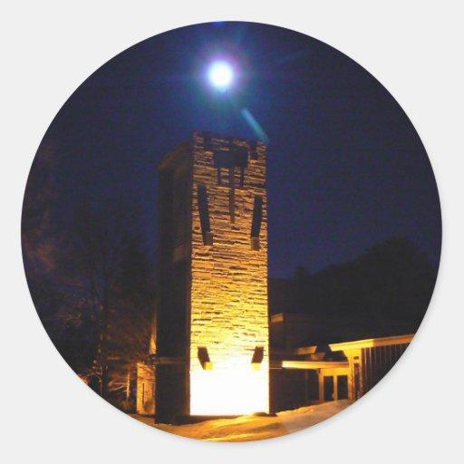 Heavenly Tower Round Sticker