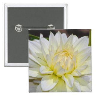 Heavenly White Dahlia Button