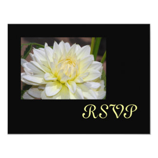 Heavenly White Dahlia RSVP Cards 11 Cm X 14 Cm Invitation Card