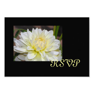 Heavenly White Dahlia RSVP Cards 9 Cm X 13 Cm Invitation Card