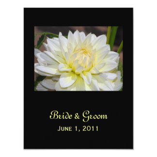 Heavenly White Dahlia Save The Date Cards 11 Cm X 14 Cm Invitation Card