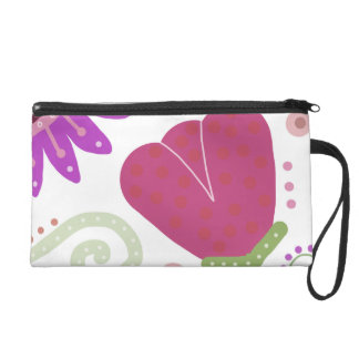 Heavens Garden. Colourful flower print Wristlet