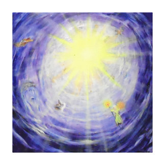 "Heaven's Light -40"" x 40"" Gallery Canvas"
