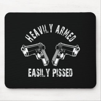 Heavily Armed Easily Pissed Mouse Pads