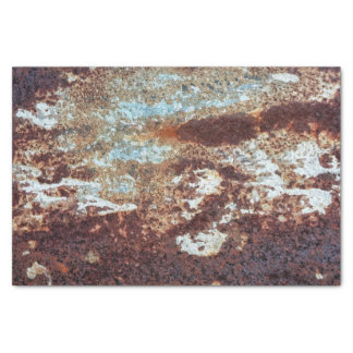 Heavily Rusted Metal Pattern Tissue Paper