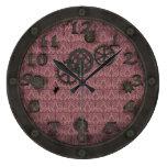 Heavy Bronze Steampunk Porthole Pink Round Wallclocks