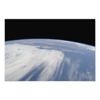 Heavy cloud cover over the Pacific Ocean Photo Print