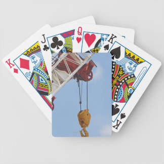 Heavy construction equipment bicycle playing cards
