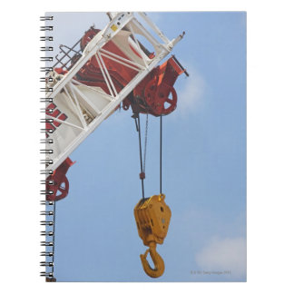 Heavy construction equipment spiral notebook