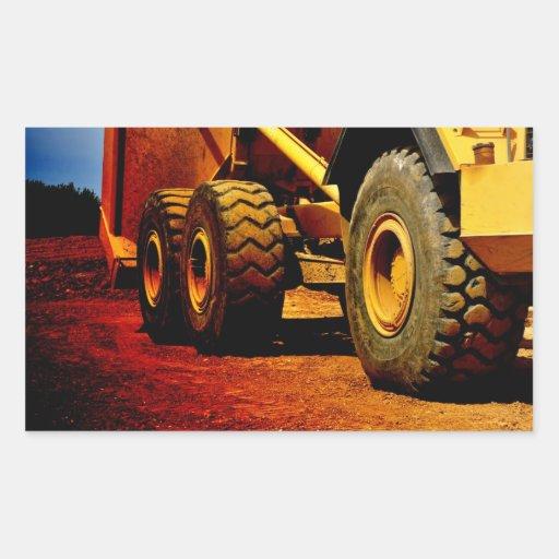 Heavy duty construction vehicle rectangular sticker zazzle