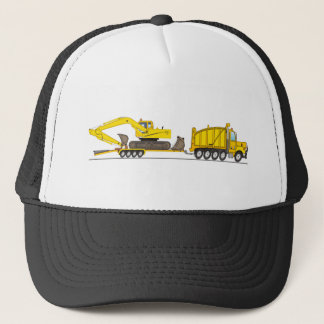 Heavy Duty Dump Truck Crane Trucker Hat