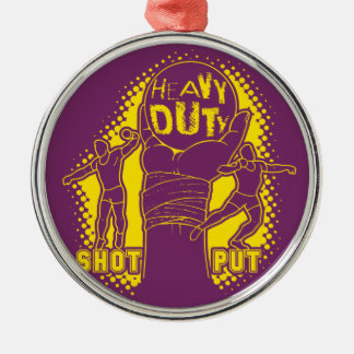Heavy duty – shot put christmas ornament