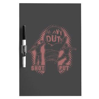 Heavy duty – shot put dry erase boards