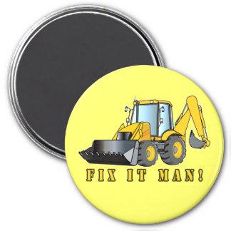 Heavy Equipment: Fix It Man! 7.5 Cm Round Magnet