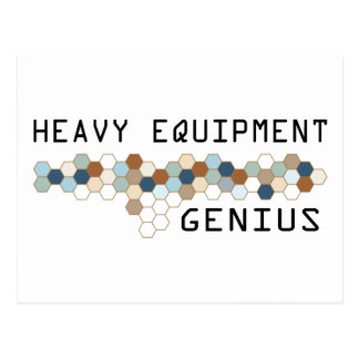 Heavy Equipment Genius Postcard