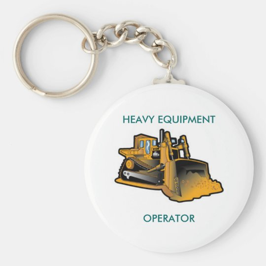 HEAVY EQUIPMENT, OPERATOR BASIC ROUND BUTTON KEY RING
