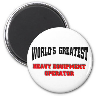 Heavy equipment operator magnet