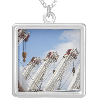 Heavy equipment silver plated necklace