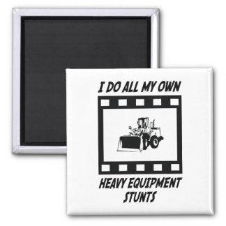 Heavy Equipment Stunts Fridge Magnet