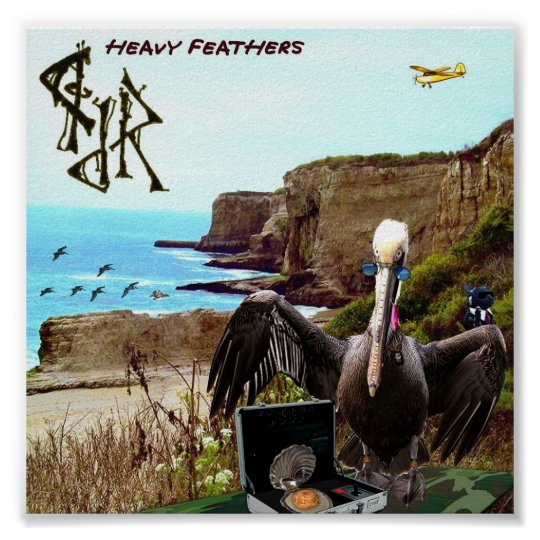 """Heavy Feathers"" by Jason T. Reimche Poster"