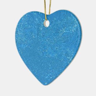 Heavy Frost Ceramic Heart Decoration