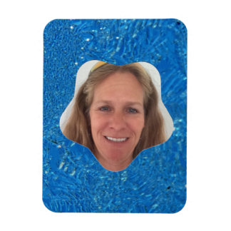 Heavy Frost Star Photo Frame Magnet