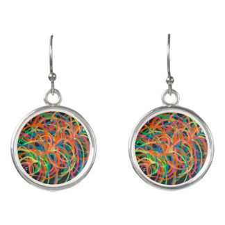 Heavy Ion Collisions earrings