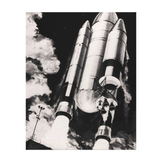 Heavy Lift Launch Vehicle Concept Stretched Canvas Print