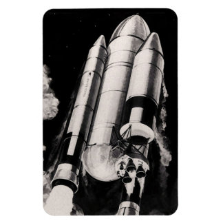 Heavy Lift Launch Vehicle Space Shuttle Concept Rectangular Photo Magnet