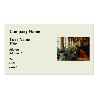 Heavy Machine Shop Business Card Template
