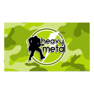 Heavy Metal bright green camo camouflage Business Card Templates