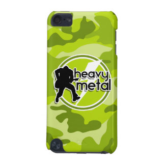 Heavy Metal bright green camo camouflage iPod Touch 5G Cases