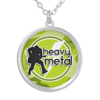 Heavy Metal bright green camo camouflage Jewelry