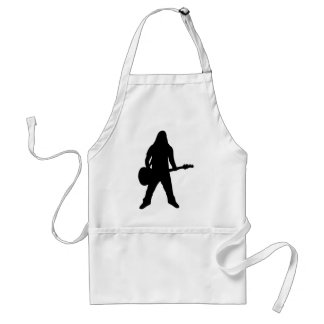 heavy metal guitar player standard apron