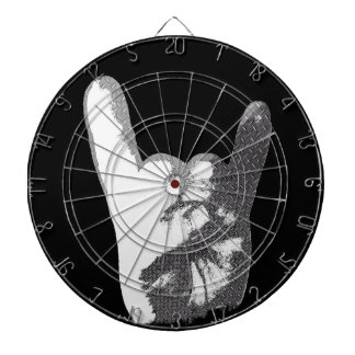 Heavy Metal Hand Sign Dartboard