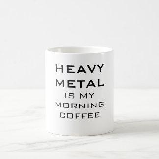 Heavy Metal Is My Morning Coffee Basic White Mug