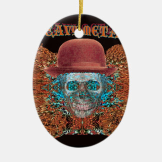 heavy metal large. christmas ornament
