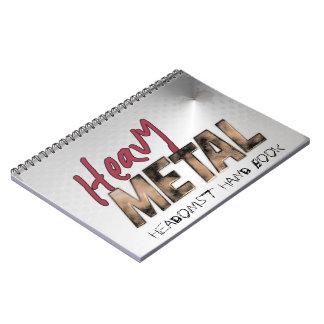 Heavy Metal metallic design Notebooks