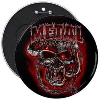 Heavy Metal Monster Button
