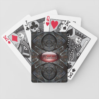 Heavy metal personalized playing cards