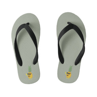 Heavy Metal Pineapple Flip Flops