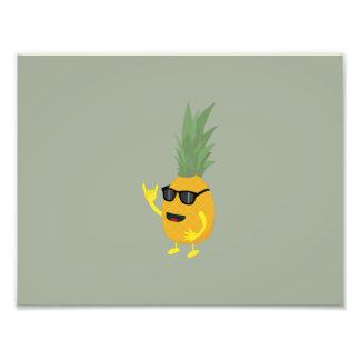 Heavy Metal Pineapple Photo Print