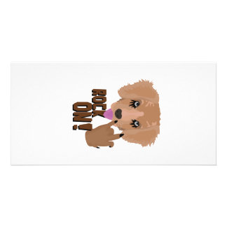 Heavy metal Puppy rock on Customised Photo Card