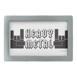 Heavy Metal! Rectangular Belt Buckles